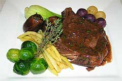 Photo of Grilled Veal Chop in Port Wine Sauce